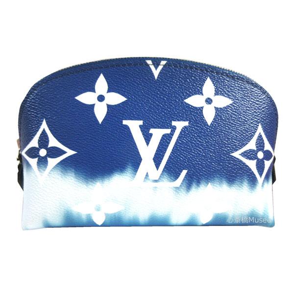 【キャッシュレス5%還元対象】≪新品≫LOUISVUITTON ルイヴィトン 2020年春夏コレクション モノグラム エスカル ポシェット コスメティック ポーチ ブルー M69138