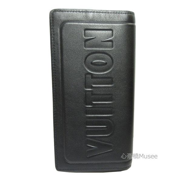 【キャッシュレス5%還元対象】ルイヴィトン LOUIS VUITTON 2018年秋冬 メンズコレクション ポルトフォイユ・ブラザ ダークアンフィニティ 黒 エンボス M63256 長財布 箱 ラッピング
