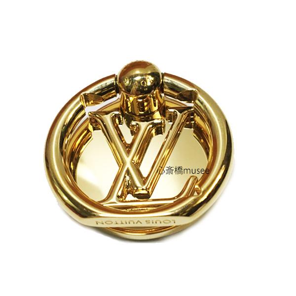 【キャッシュレス5%還元対象】LOUIS VUITTON ルイヴィトン フォンリング ルイーズ M64290 フォン アクセサリー ゴールド LV スマホ iPhone 箱 リボン