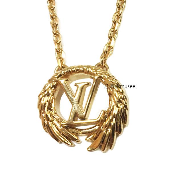 【キャッシュレス5%還元対象】≪新品≫ Vuitton ルイヴィトン コリエ・エンジェル M64291 ネックレス ゴールドカラー LV ビトン LVサークル 箱 リボン ラッピング