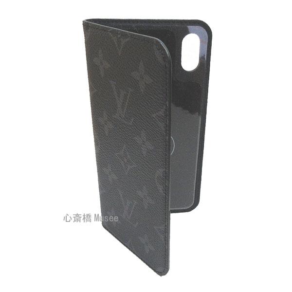 【キャッシュレス5%還元対象】≪新品≫ルイヴィトン モノグラム フォリオ iPhone XS MAX 10S MAX マックス 二つ折 スマホ 携帯ケース エクリプス 黒 M67484 アクセサリー モバイル 箱 リボン ラッピング LOUISVUITTON アイフォン ビトン