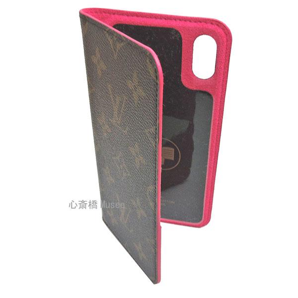 【キャッシュレス5%還元対象】≪新品≫ルイヴィトン モノグラム フォリオ iPhone XS MAX 10S MAX マックス 二つ折り スマホ 携帯ケース ローズポップ ピンク M67481 アクセサリー モバイル 箱 リボン ラッピング LOUISVUITTON アイフォン ビトン