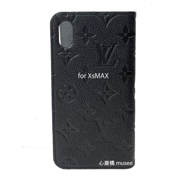 【キャッシュレス5%還元対象】≪新品≫ルイヴィトン フォリオ iphoneXS MAX 10S MAX モノグラム アンプラント ノワール 黒 ブラック モバイル M68592 二つ折り 手帳型 携帯ケース アクセサリー LOUISVUITTON ビトン スマホ ケース 新品・LV箱でのラッピング