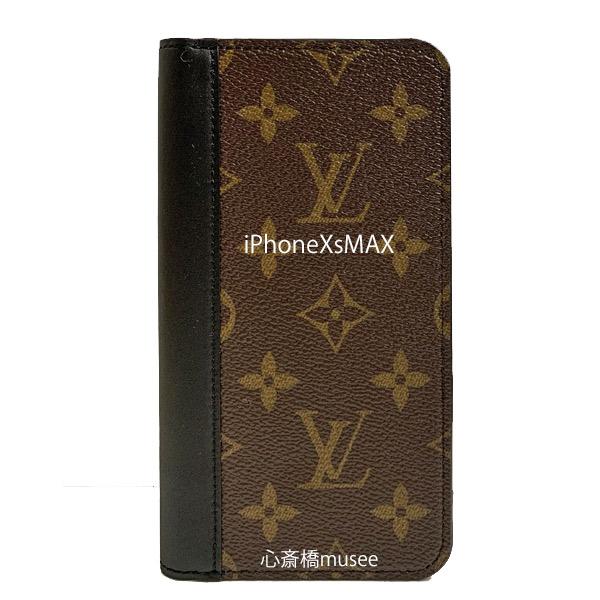 【キャッシュレス5%還元対象】≪新品≫ルイヴィトン フォリオ iPhone XsMAX 10Max 二つ折り スマホ 携帯ケース モノグラム/ブラックレザー M68692 アクセサリー モバイル 箱 リボン ラッピング LOUISVUITTON アイフォン ビトン MAX