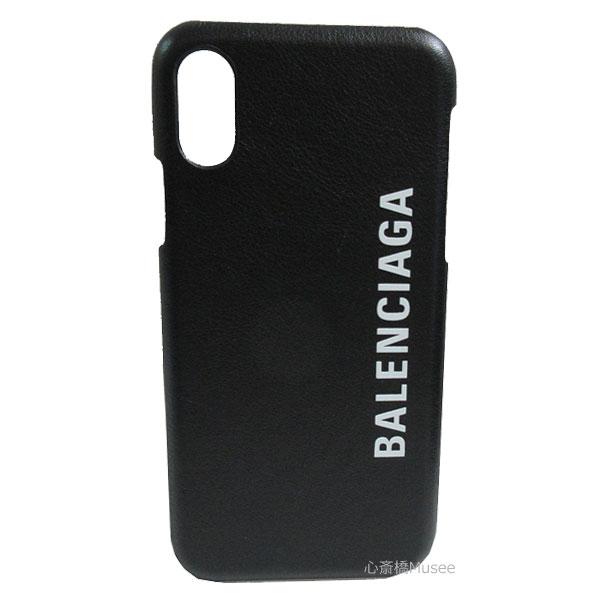 【キャッシュレス5%還元対象】BALENCIAGA バレンシアガ iphone X XS 10 10S 携帯ケース アイフォーン 黒 ノワール カーフ Iphone スマートフォン スマホ ホワイト ロゴ モバイル アクセサリー 箱 リボン ショッパー ラッピング