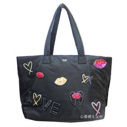 【キャッシュレス5%還元対象】Victoria's Secret ヴィクトリアズシークレット ランウェイ パッチ トート バッグ