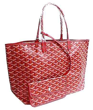 【キャッシュレス5%還元対象】≪新品≫ 正規品 GOYARD ゴヤール サンルイPM トートバッグ 赤 レッド 紙袋・リボン付き!