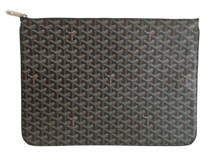 ≪新品≫ 正規品 GOYARD ゴヤール クラッチバッグ セナ POCHETTE SENAT GM 黒 箱・リボンのラッピング