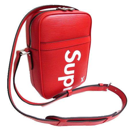 【キャッシュレス5%還元対象】≪新品≫ルイヴィトン×シュプリーム LOUIS VUITTON × Supreme ダヌーブ Danube PM ショルダーバッグ 赤 レッド M53417 箱のラッピング 2017年限定