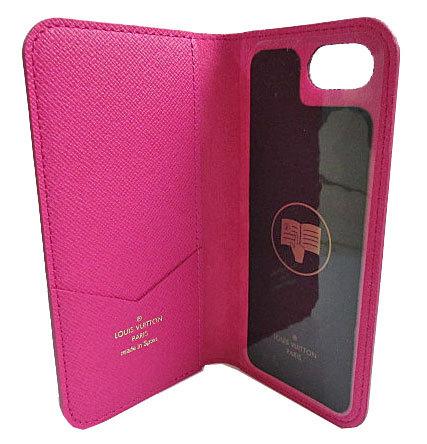 ≪新品≫ルイヴィトン iphone8・フォリオ(7にも対応) モノグラム×ピンク 二つ折り 携帯ケース アクセサリー モバイル M61906 LOUISVUITTON プレゼントラッピング ビトン スマホケース iPhoneケース アイフォン 手帳型 ケース ヴィトン