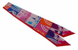 ≪新品≫ エルメス ツイリー En Desordre 《無秩序》GALA 赤・ピンク・パープル スカーフ