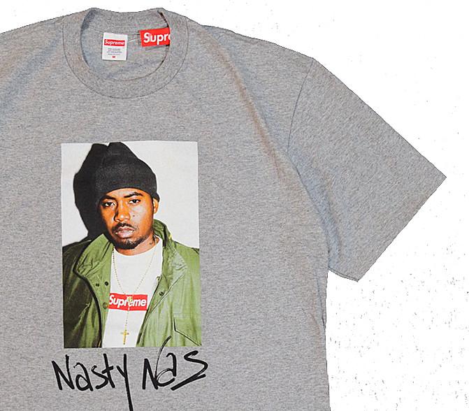 【キャッシュレス5%還元対象】≪新品≫ 17FW Supreme NAS Tee GREY Mサイズ シュプリーム Tシャツ