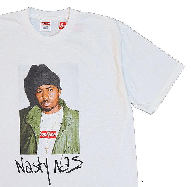 【キャッシュレス5%還元対象】≪新品≫ 17FW Supreme NAS Tee GREYWHITE 白 Mサイズ シュプリーム Tシャツ