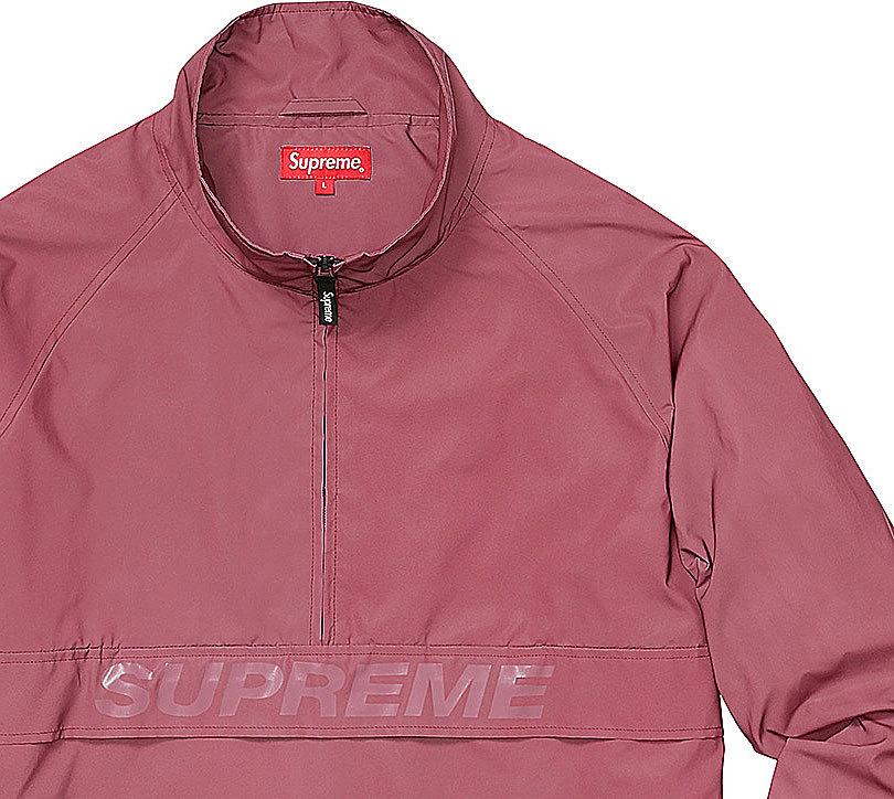 【キャッシュレス5%還元対象】≪新品≫ 17SS Supreme Reflective Half Zip Pullover シュプリーム プルオーバー Mサイズ