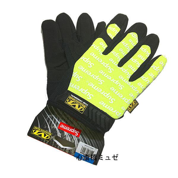 【キャッシュレス5%還元対象】≪新品≫ 17SS Supreme / Mechanix Wear Original Work Gloves Yellow Ssize シュープリーム メカニックスウェア オリジナル ワーク グローブ 黄色 Sサイズ