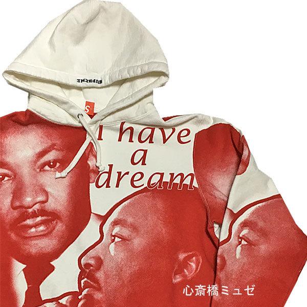 【キャッシュレス5%還元対象】≪新品≫ 18ss SUPREME MLK Hooded Sweatshirt White Sサイズ スウェット パーカー フーディ キング牧師