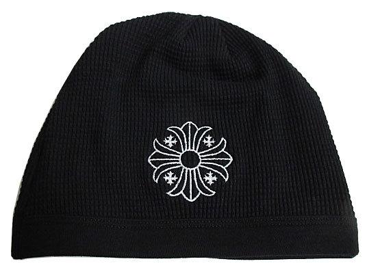 正規品 新品 クロムハーツ コットンニット帽ビーニー クロスボール 黒 ブラック ショッパー付