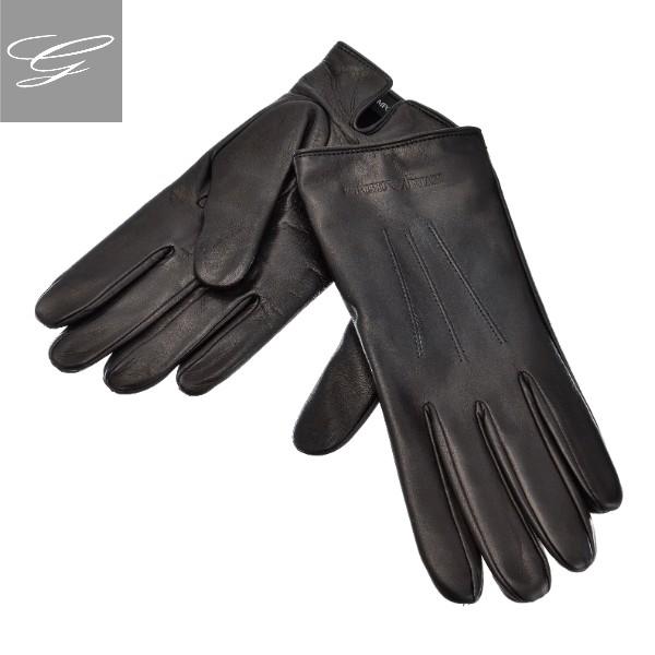エンポリオ アルマーニ グローブ EMPORIO ARMANI 手袋 メンズ シープスキン NERO 2018年秋冬新作 624139-8A203-00020