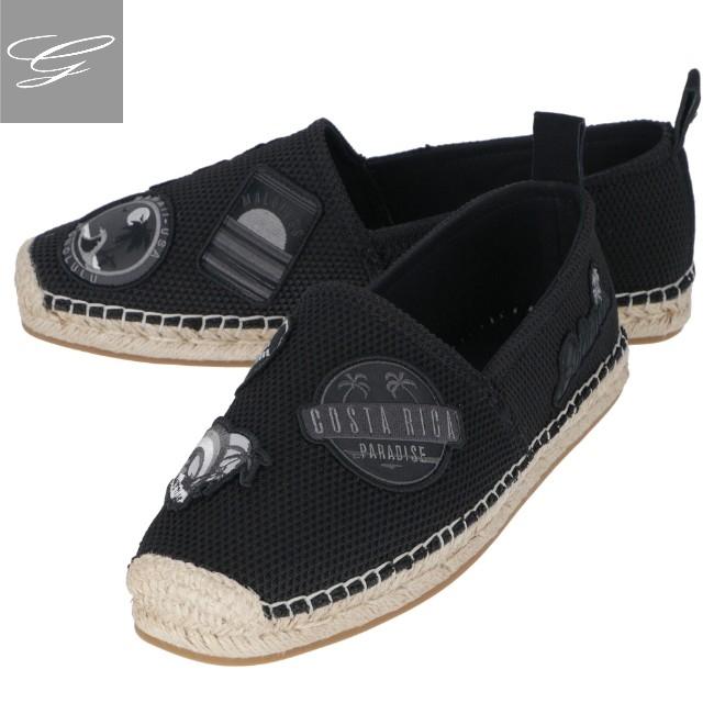 エンポリオ アルマーニ/EMPORIO ARMANI スニーカー メンズ エスパドリーユ BLACK+MULTICOLOR 2019年春夏新作 X4S023-XL702-C500