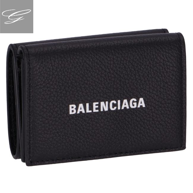 バレンシアガ/BALENCIAGA 財布 メンズ CASH MINI WALLET 三つ折り財布 BLACK 2020年秋冬 594312-1IZ43-1090
