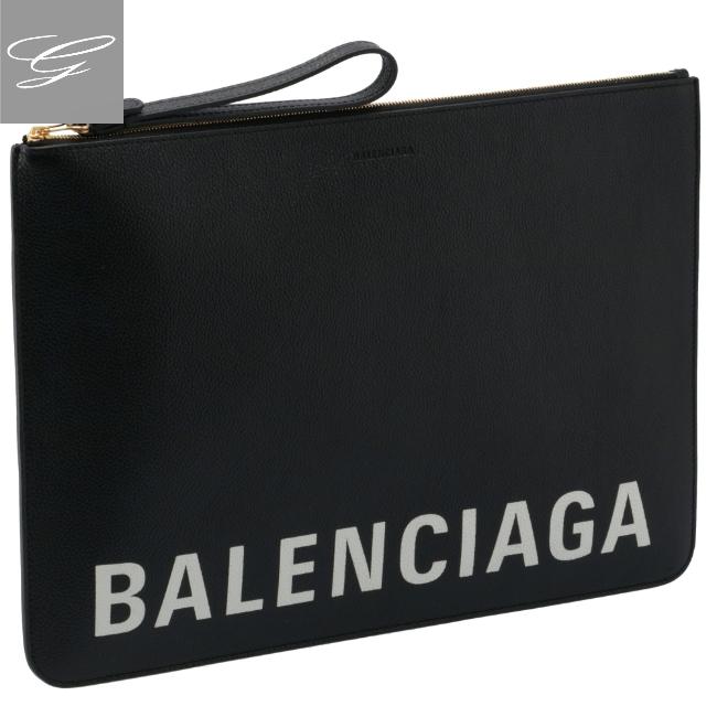バレンシアガ/BALENCIAGA バッグ メンズ カーフスキン クラッチバッグ BLACK 2020年秋冬新作 630626-1IZKM-1090