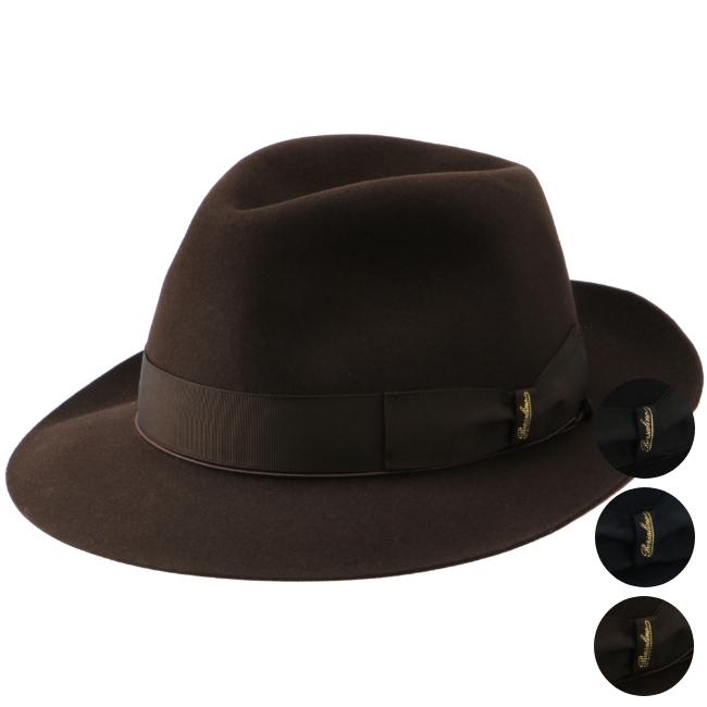 【2019AW SALE】ボルサリーノ/BORSALINO 帽子 メンズ QUALITA SUPERIORE ANELLO RASAT ハット 114336-4336