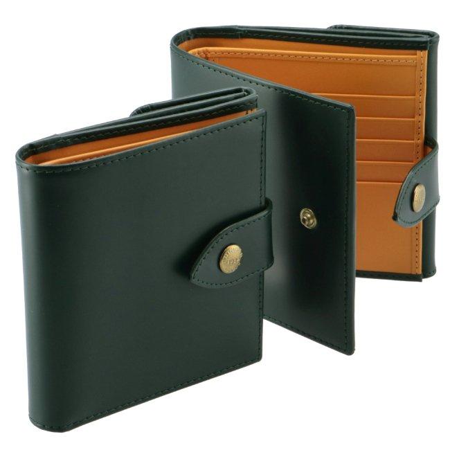 エッティンガー/ETTINGER 財布 メンズ ブライドルレザー 二つ折り財布 GREEN 2020年春夏 BH178JR-0001-0005