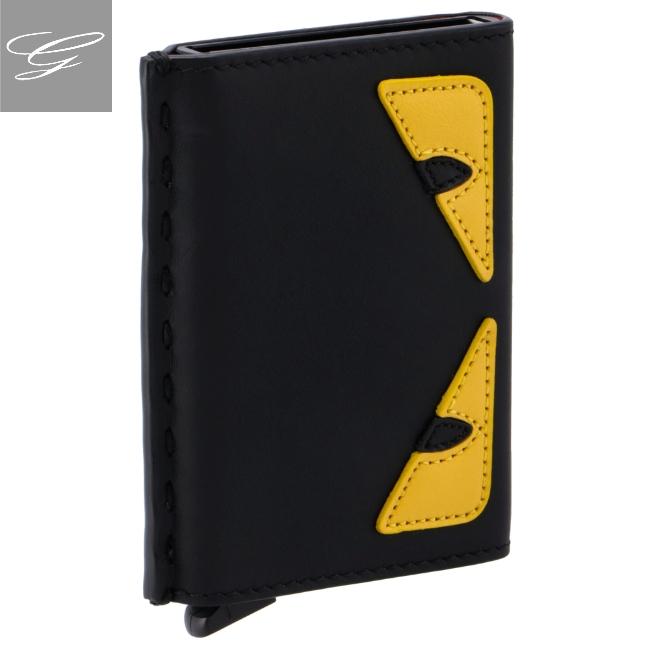 フェンディ/FENDI カードホルダー メンズ YELLOW EYES カードケース 2020年秋冬新作 7M0302-O73-F0U9T