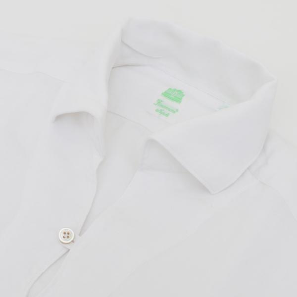 【2018春夏ファイナルセール】フィナモレ/FINAMORE シャツ メンズ カプリシャツ WHITE 2018年春夏新作 MINORCA-044435-01WHI