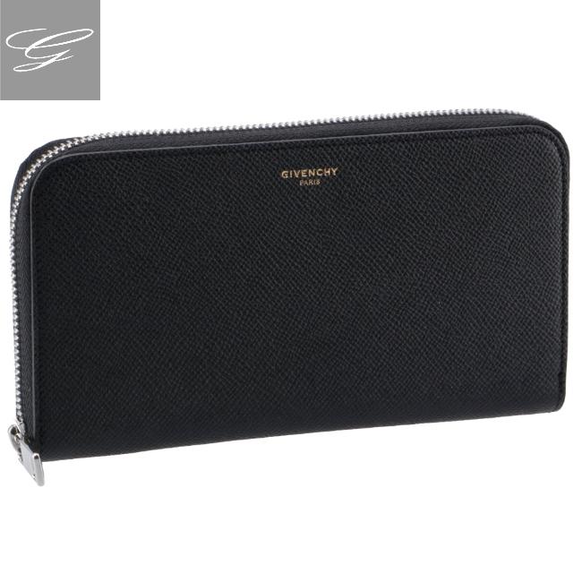 ジバンシー/GIVENCHY 財布 メンズ 型押しカーフスキン ラウンドファスナー長財布 BLACK 2020年秋冬新作 BK600GK-0UF-001