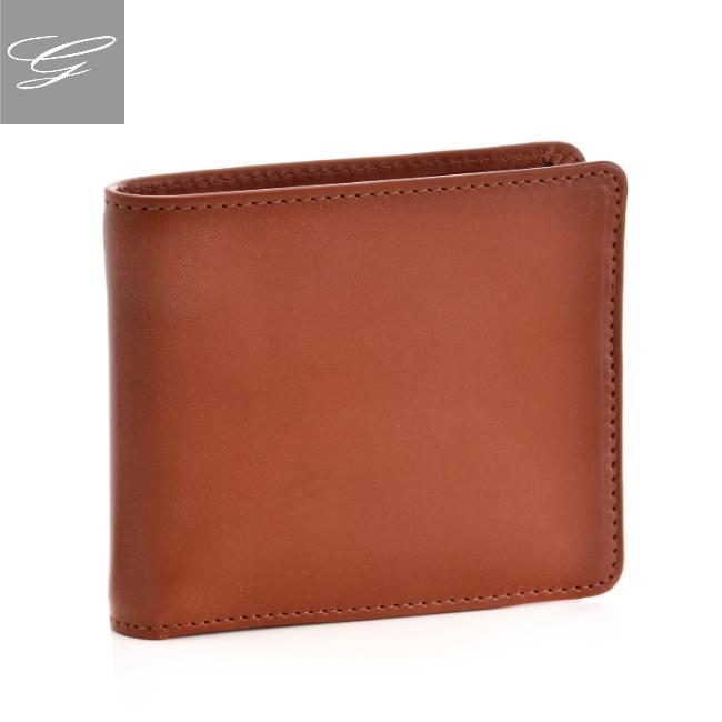グレンロイヤル 2つ折り財布 GLENROYAL 財布 メンズ ブライドルレザー ブラウン 034128-0001-0004