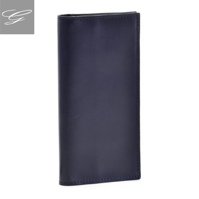 グレンロイヤル 二つ折り長財布 GLENROYAL 財布 メンズ ブライドルレザー ネイビー 035605-0001-0003 2020年秋冬