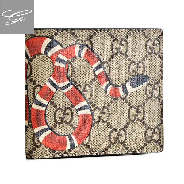 グッチ 2つ折り財布 GUCCI 財布 メンズ Gucci Bestiary M B.EB/N.MA/N.MA.PI.N. 2018年秋冬新作 451268-K551N-8666