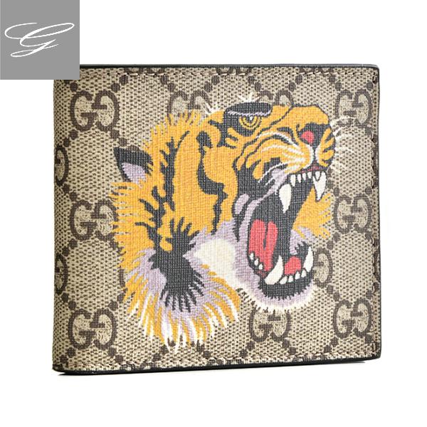グッチ 2つ折り財布 GUCCI 財布 メンズ Gucci Bestiary M B.EB/N.MA/N.MA.PI.N. 2018年秋冬新作 451268-K5Z1N-8666