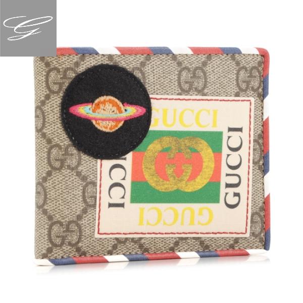 グッチ 2つ折り財布 GUCCI 財布 メンズ Gucci Courrier B.E/N.AC/M.W.H.R.M/M 2019年春夏新作 473905-K9GQT-8899