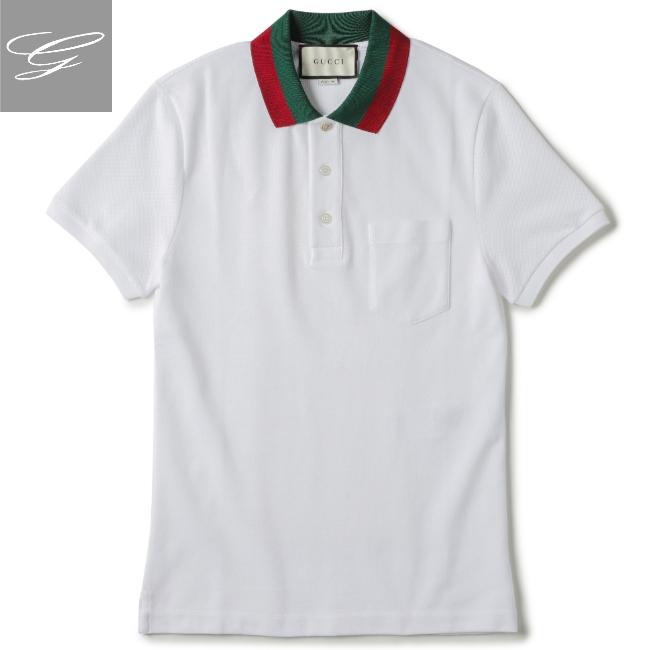 グッチ/GUCCI シャツ メンズ ポロシャツ BIANCO 2020年春夏新作 408321-X7331-9060