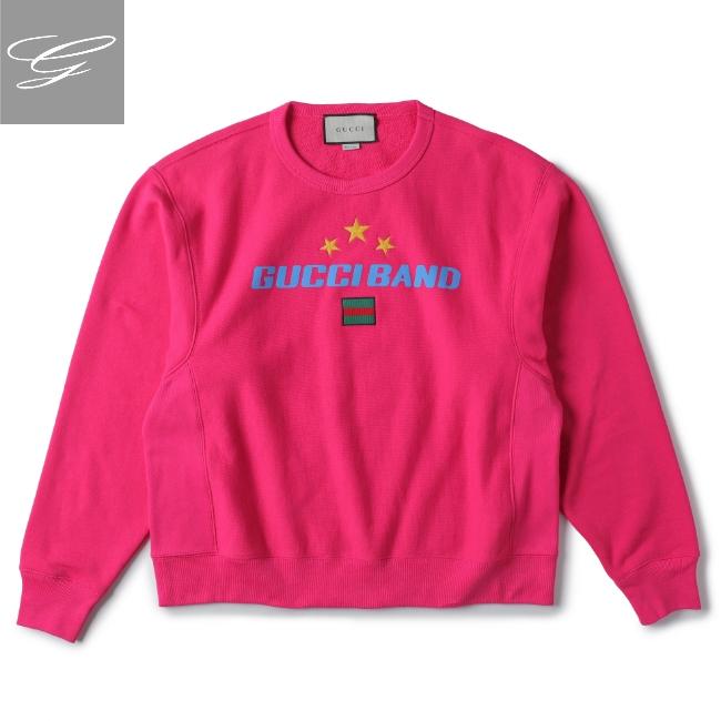 グッチ/GUCCI シャツ メンズ GUCCI BAND スウェットシャツ BRIGHT FUCHSIA/MIX 2020年春夏新作 563972-XJB27-5092