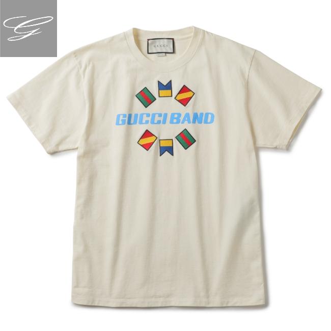 グッチ/GUCCI シャツ メンズ Tシャツ BEIGE/EBONY+COCOA+DK CO 2020年春夏新作 565806-XJB2X-9756