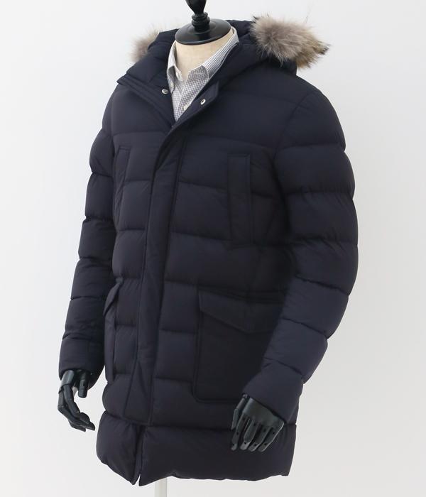 ヘルノ/HERNO コート メンズ ダウンコート NAVY 2018年秋冬 PI003ULE-19288-9200