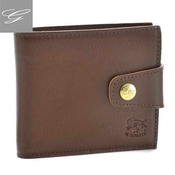 国内発送 イルビゾンテ/IL BISONTE 財布 メンズ カーフスキン 二つ折り財布 ブラウン C1031-P-846, LAHAINA 12d26df1