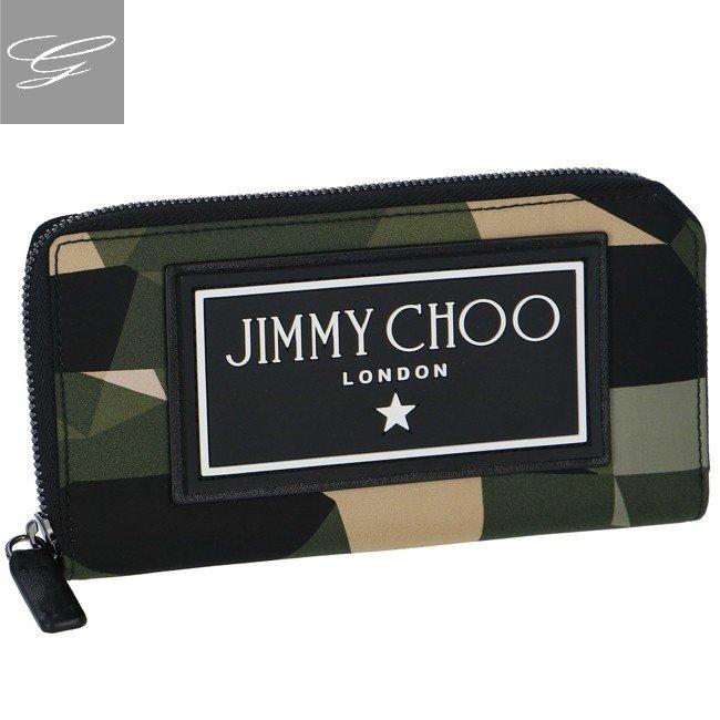 【2019AW SALE】ジミーチュウ/JIMMY CHOO 財布 メンズ ナイロン ラウンドファスナー長財布 ARMY MIX SEKI-CIN-0204【ロゴアイテム】