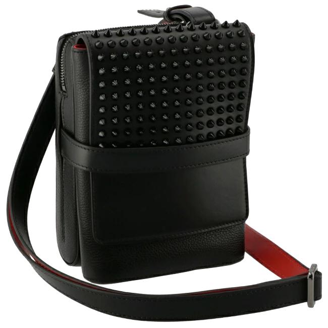 クリスチャンルブタン/CHRISTIAN LOUBOUTIN バッグ メンズ BENCH REPORTER ショルダーバッグ ブラック 1165000-0001-B049