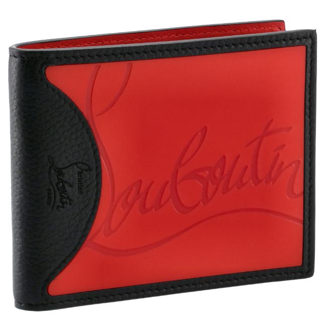 クリスチャンルブタン/CHRISTIAN LOUBOUTIN 財布 メンズ カーフスキン 二つ折り財布 LOUBI/BLACK 2020年秋冬新作 3195052-0001-H734