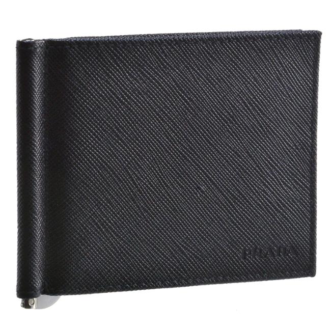 プラダ/PRADA 財布 メンズ 型押しカーフスキン 二つ折り財布 NERO 2020年秋冬 2MN077-053-002