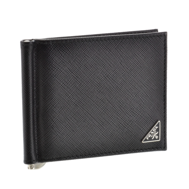 プラダ 2つ折り財布 PRADA 財布 メンズ 型押しカーフスキン NERO 2019年春夏新作 2MN077-QHH-002