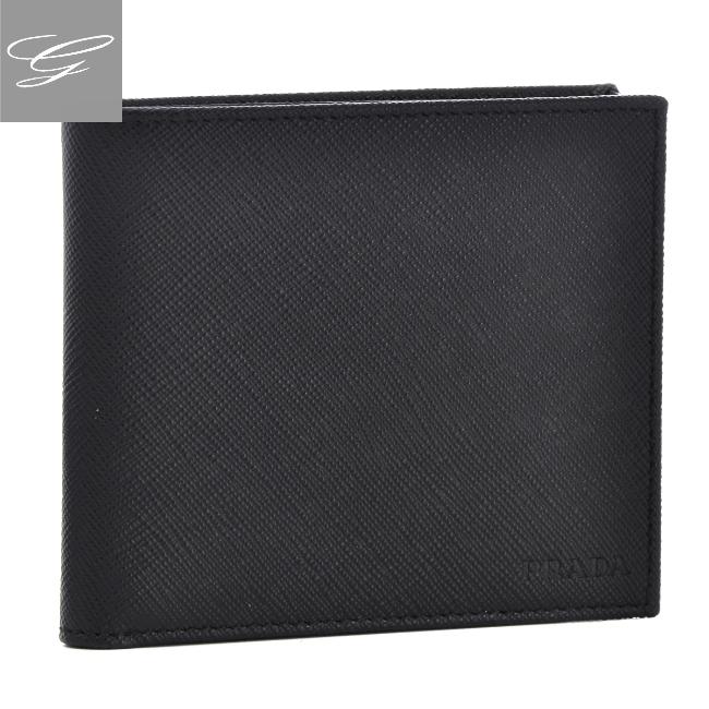 プラダ/PRADA 財布 メンズ 型押しカーフスキン 二つ折り財布 NERO 2020年秋冬 2MO738-053-002