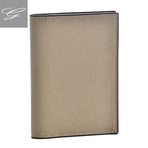 ヴァレクストラ パスポートケース VALEXTRA メンズ グレインレザー カードケース グレーベージュ V2L49-028-00TO