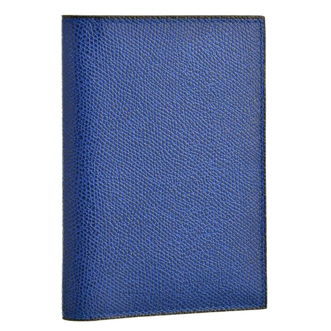 ヴァレクストラ/VALEXTRA カードケース メンズ グレインレザー パスポートケース ROYAL BLUE V2L49-028-00RO 2020年秋冬