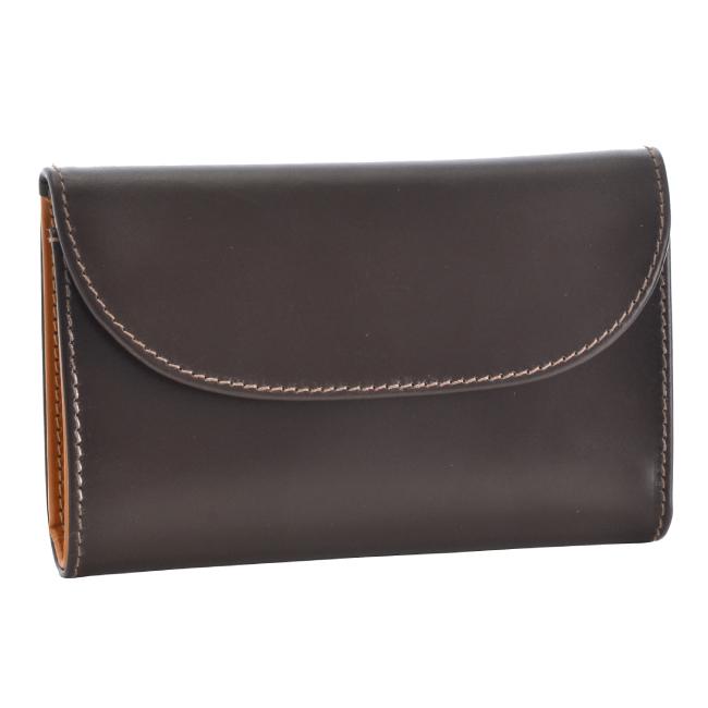 ホワイトハウスコックス 3つ折り財布 WHITEHOUSE COX 財布 ブライドルレザー ブラウン×マスタード S1112-SC-0006