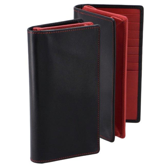 ホワイトハウスコックス/WHITEHOUSE COX 財布 メンズ サドルレザー 二つ折り長財布 BLACK/RED 2020年秋冬新作 S1814-SL-0008
